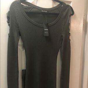 Robbed bodycon dress